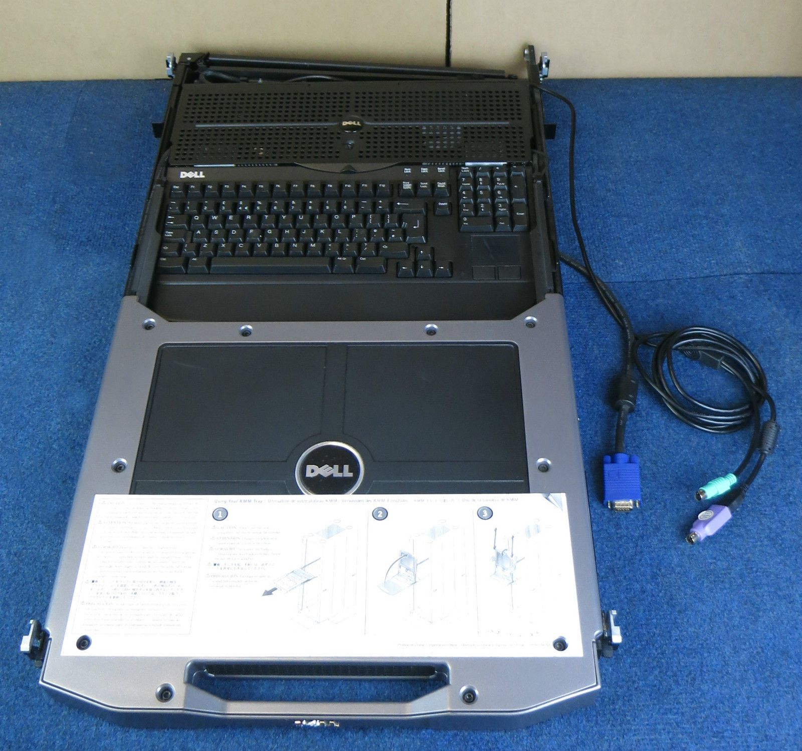 Dell Poweredge 17p Hp535 1u Rack Mount Console Kvm 17 Tft